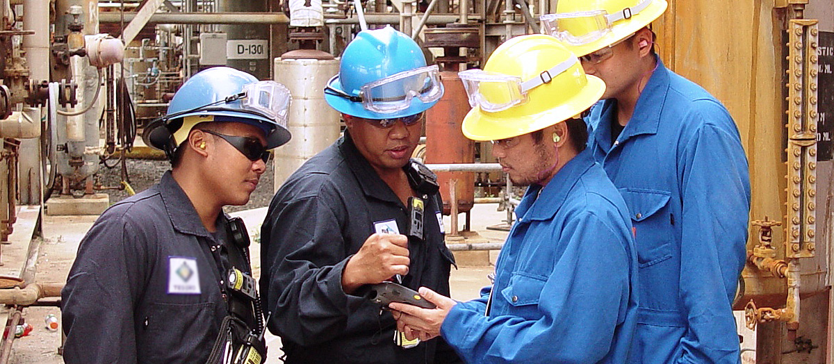 workers at power plant