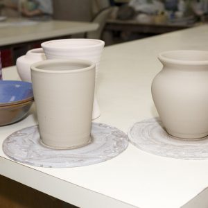 Pots Before Glazing.
