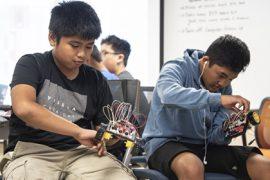 Boys Building Robots