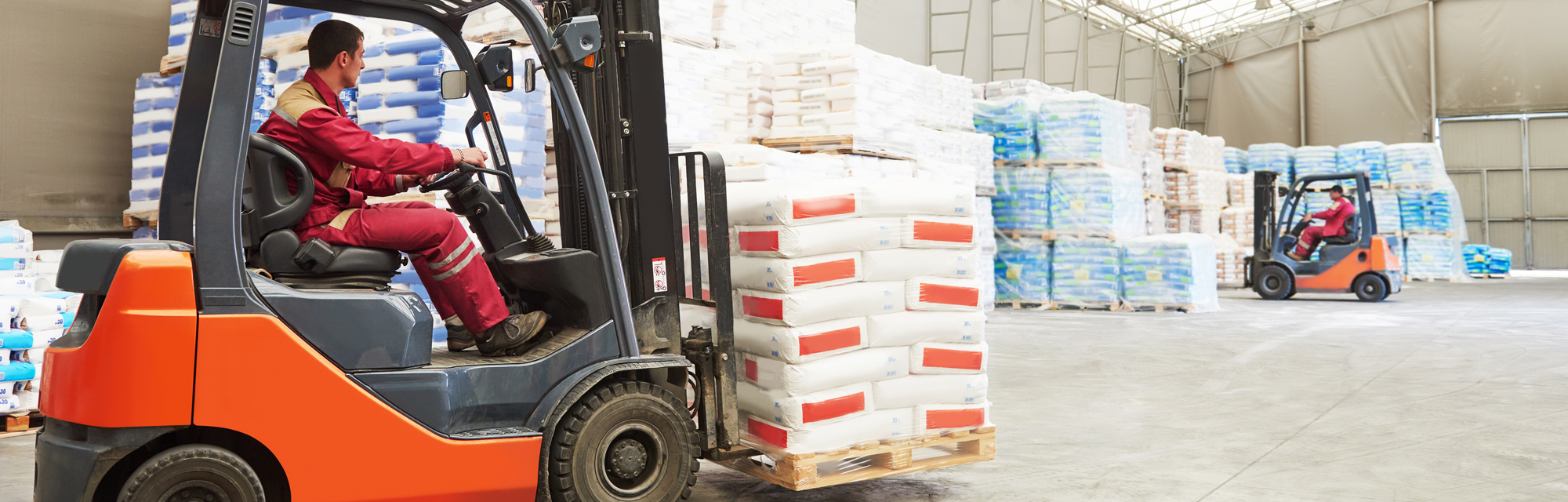 Forklift Operator Moving Cargo