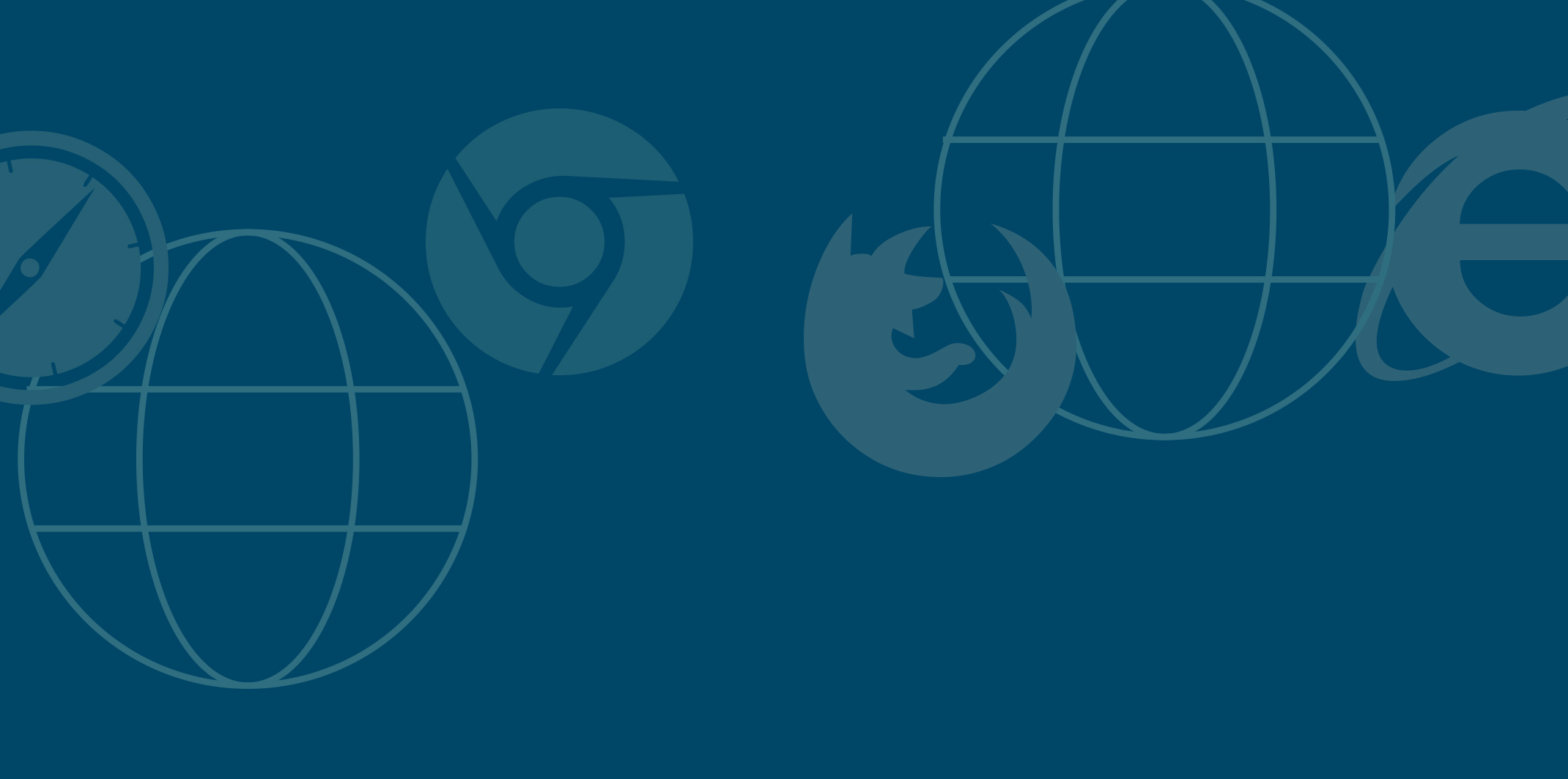 web browser and globe icons